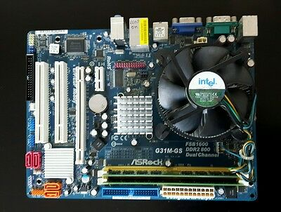 PLACA BASE LGA 775 Asrock G31M-GS procesador Core 2 Duo E6750 y 2GB RAM