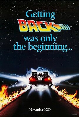 BACK TO THE FUTURE PART 2 Michael J Fox Teaser D/S Original Movie Poster 1989
