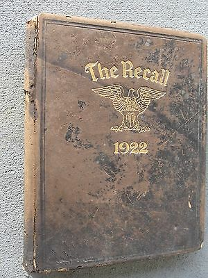 1922 Vol. 10 - THE RECALL YEARBOOK : Augusta Military Academy Ft. Defiance, VA.