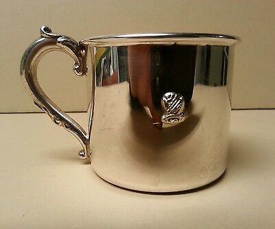 VTG Beta Sigma Phi Sorority Crest Silver Plate Baby Cup - L.G. Balfour Co -RARE!