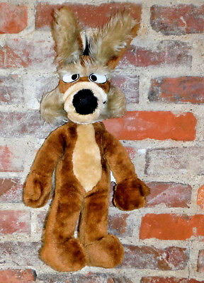 Wiley Coyote Mighty Star Warner Brothers Wile Plush Toy Stuffed Animal 1971