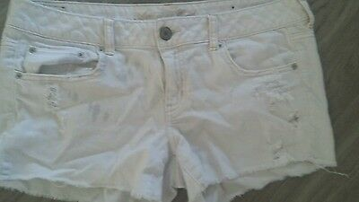 Womens American eagle distressed  shorts size 12
