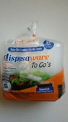 Disposaware Plastic Party pack Take out Trays 25 COUNT 28OZ