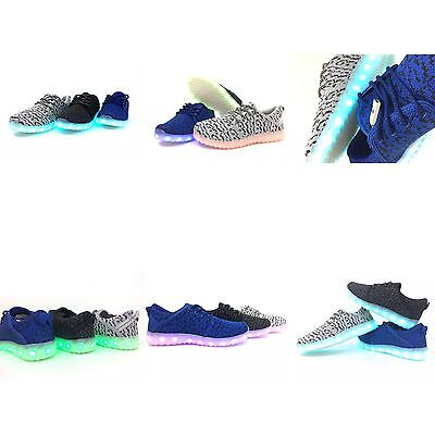 Womens   Youth Boys Size LED LightUp USB Charger Shoes Sneakers Lace Up  Athletic 078bc4f2cf