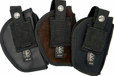 NYLON LEATHER SUEDE OWB CLIP-ON or BELT SLIDE HOLSTER - S&W SHIELD with LASER