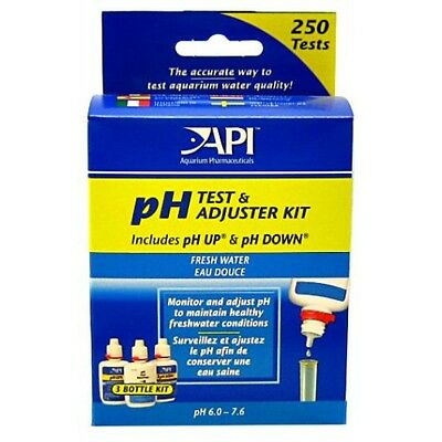 API pH Test & Adjuster Kit Set Freshwater Test + pH Up + pH Down included