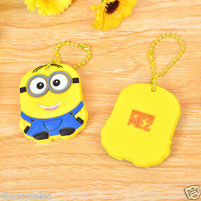 Two eyes Minions Key Cover Key Case Chain Cap Keyring theme in Despicable Me