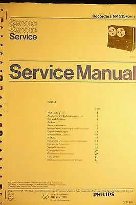 Service Manual instructions for Philips N 4515 ,ORIGINAL
