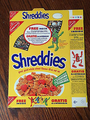 MINT 1970 Disney The Computer Who Wore Tennis Shoes Nabisco Shreddies Cereal Box