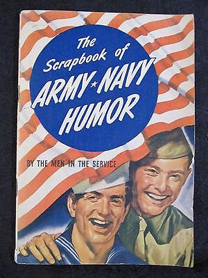 1943 SCRAPBOOK OF ARMY NAVY HUMOR By Men In The Service~CARTOONS~ Rare Vtg WW2