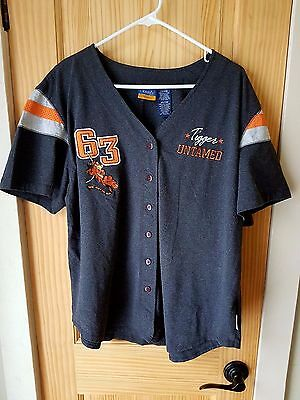 Winnie The Pooh Tigger Untamed Vented & Embroidered Baseball Jersey Women 18/20