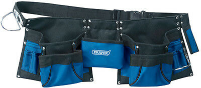 Draper Heavy Duty Double Tool Pouch 03068 Hammer Tape Loop Quick Release