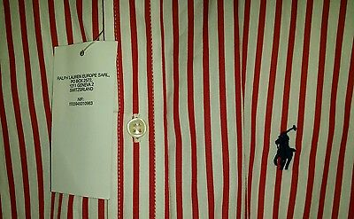 Unique GENUINE Polo Ralph Lauren Kids Quality Red & White Smart Shirt RRP £60