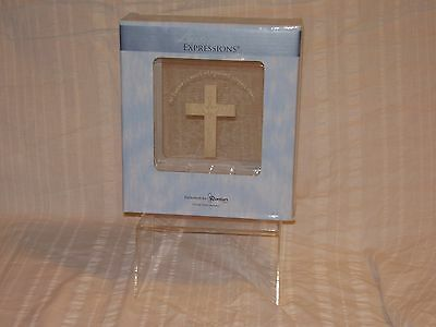 "Lasting Expressions 6.5"" Plaque with Stand Cross with Music Holy Spirit"
