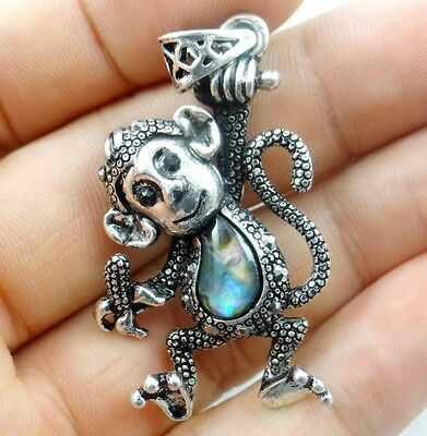 48*30MM Beautiful Abalone Shell  carved the statue of monkey PENDANT