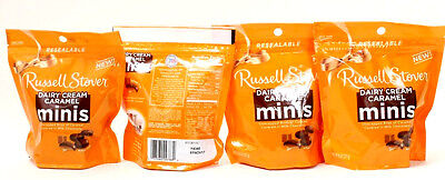 4 Russell Stover Dairy Cream Caramel Minis Unwrapped Bites Best By 11-1-17