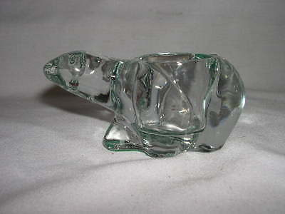 Polar Bear Clear Glass  Tealight Candle Holder