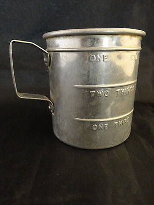 Vintage Aluminum One Cup Measuring Cup