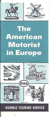 1963 Esso Gas The American Motorist In Europe Humble Touring Service Booklet