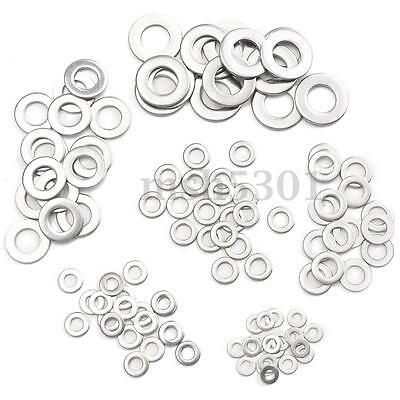 105Pcs Stainless Steel Washer/Spring Metric Washer Assortment M3 M4 M5 M6 M8 M10