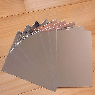 SILVER FOIL MIRROR CARDSTOCK A5 x 10 SHEETS - NEW