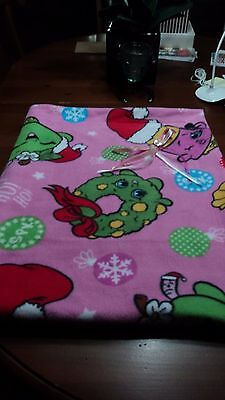*Shopkins* Infant or Toddler Xmas Fleece&Minky Blanket-36x46-sewn-very cute