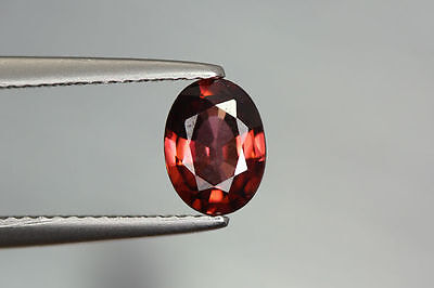 1.290 Cts FULL FIRE 100% NATURAL EARTH MINE RED ZIRCON UNHEATED GEMSTONE ~!!!