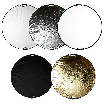 """43""""/110cm 5 in 1 Reflector Board Photo Light Mulit Collapsible Disc Handheld Set"""