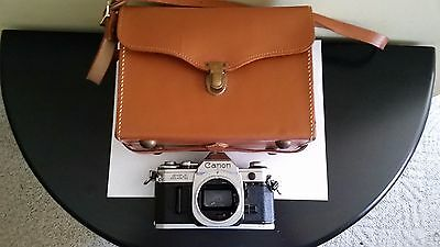 Vintage Canon Ae 3 35 Mm Film Camera Body Only Leather Case