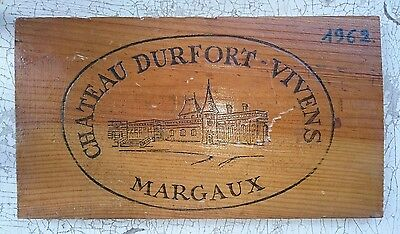 CHATEAU DURFORT VIVENS MARGAUX 1962 FRENCH WINE CRATE DECOR Wine Bar Sign
