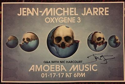 Jean Michel Jarre Oxygene 3 Poster Signed With Photo Proof Look!
