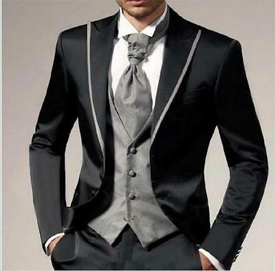 Hot Sale Wedding Men Groom Tuxedo Groomsmen Best Man Suit 3 Pieces Party Tuxedo