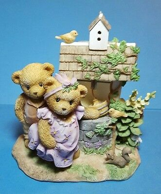 Cherished Teddies 2007 Signing Event Couple at Wishing Well Signed Figurine