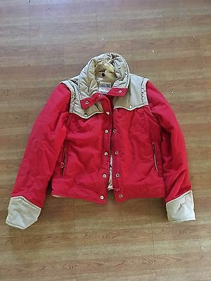 Retro 70's Red and Cream western vintage jacket size 8 - 10