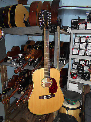 Johnson JD-06-12 Songwriter II 12-String Acoustic Guitar, Natural