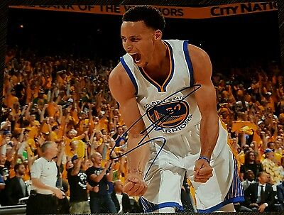 Stephen Curry Signed Golden State Warriors 8X10 Photo - coa