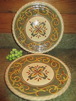 "Artimino Tuscan Countryside Sienna Cream 9 5/8"" Salad Plate"