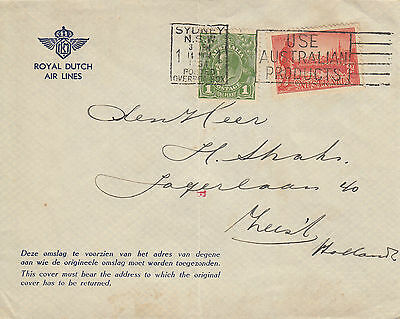 F 1260 Macrobertson Air Race return 1935 cover to the Netherlands