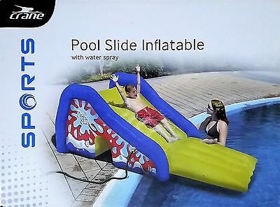 Crane Inflatable Pool Slide with Water Spray - Kids, Pool, Fun, Swimming, New