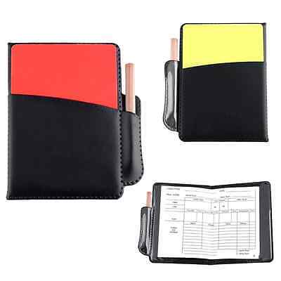 Sports Football Referee PU Booklet Wallet Notebook With Red Yellow Cards