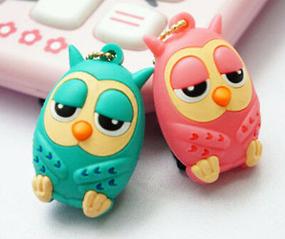 Korea Owl Pink Blue Phone Charm 3.5mm Jack Dust Stopper Plug