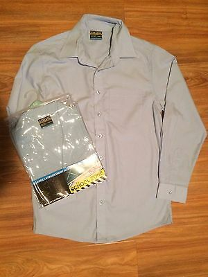 Boys Sz 14 Sky Blue Short Sleeve School Shirt - Bonus Long Sleeve School Shirt!