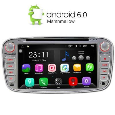 "Silver 4Core Android 5.1 7"" Car DVD GPS Player for Ford Focus Mondeo S-Max Radio"
