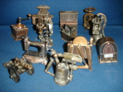 Lot 12 Taille-Crayon Metal Playme Canon Lampe Pressoir Piano Cuisiniere Etc...