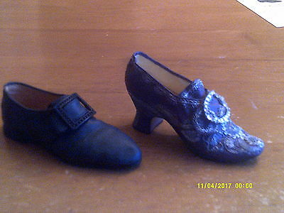 2 JUST THE RIGHT SHOE- COLLECTIBLE SHOES BY RAINE GW Dress Shoe/MW Wedding shoe