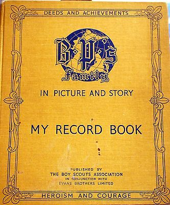 Boy Scout's Association MY RECORD BOOK 1938.