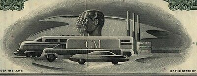 General Motors GM 2 Color Stock Certificate Set Auto