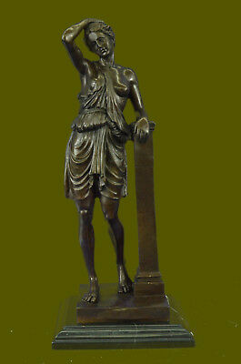 Fraternity Toga Party Nude Greek Female Lady Bronze Sculpture Marble StatueDB