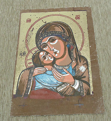Reproduction Antique Orthodox Christianity Painted Painting Russian Icon 2