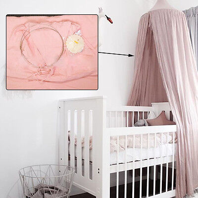 Cotton white Baby Canopy Bed Mosquito Bedding Net Kids Sleep and rest Tents AU